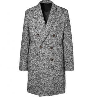 Mr P. - Double-Breasted Bouclé Overcoat - Men - Gray