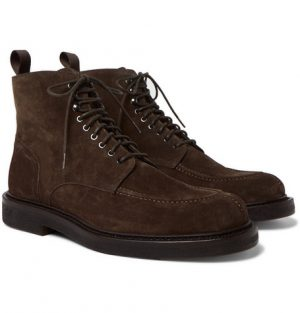 Mr P. - Jacques Shearling-Lined Suede Boots - Men - Brown