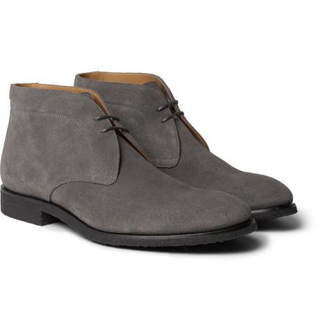 Mr P. - Lucien Suede Desert Boots - Men - Gray
