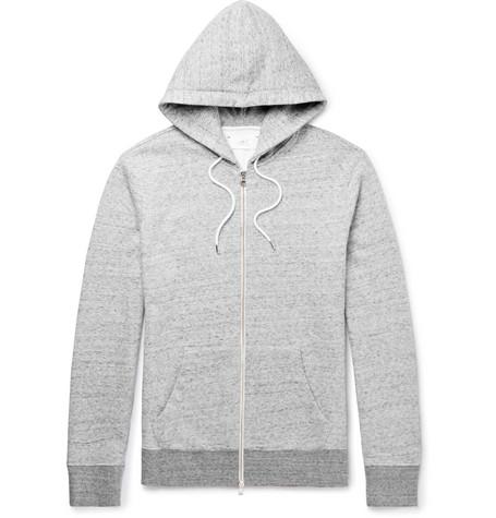 Mr P. - Mélange Loopback Cotton-Jersey Hoodie - Men - Gray