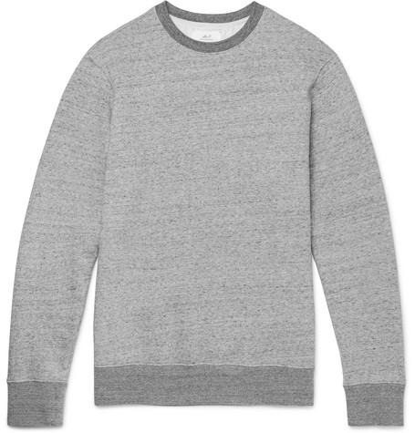 Mr P. - Mélange Loopback Cotton-Jersey Sweatshirt - Men - Gray