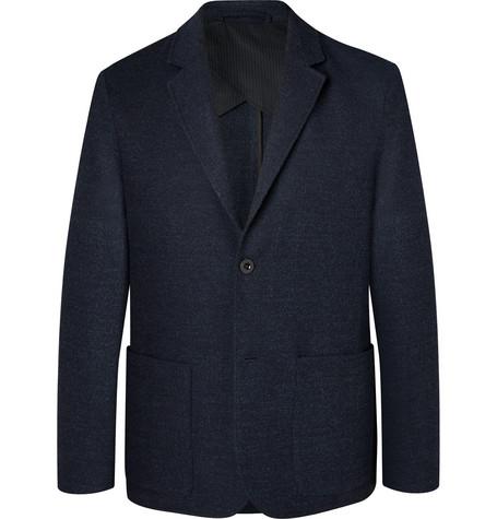 Mr P. - Navy Slim-Fit Unstructured Virgin Wool-Blend Bouclé Suit Jacket - Men - Navy