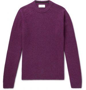 Mr P. - Shetland Virgin Wool Sweater - Men - Purple