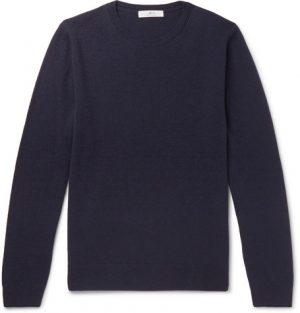 Mr P. - Slim-Fit Merino Wool Sweater - Men - Blue