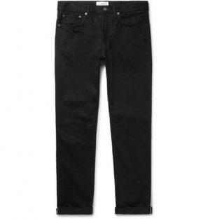 Mr P. - Slim-Fit Selvedge Denim Jeans - Men - Black