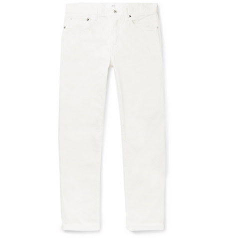 Mr P. - Slim-Fit Selvedge Denim Jeans - Men - White