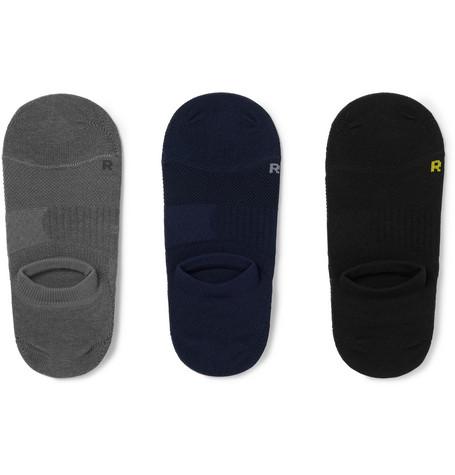 Mr P. - Three-Pack No-Show Stretch-Knit Socks - Men - Multi