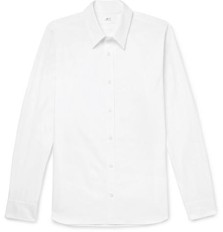 Mr P. - White Slim-Fit Cotton-Poplin Shirt - Men - White