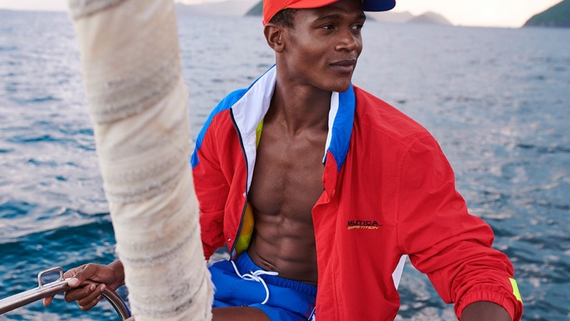 O'Shea Robertson appears in Nautica's spring-summer 2019 campaign.