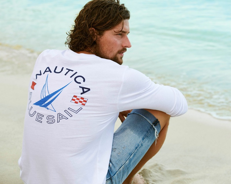 Dutch model Wouter Peelen connects with Nautica for its spring-summer 2019 campaign.