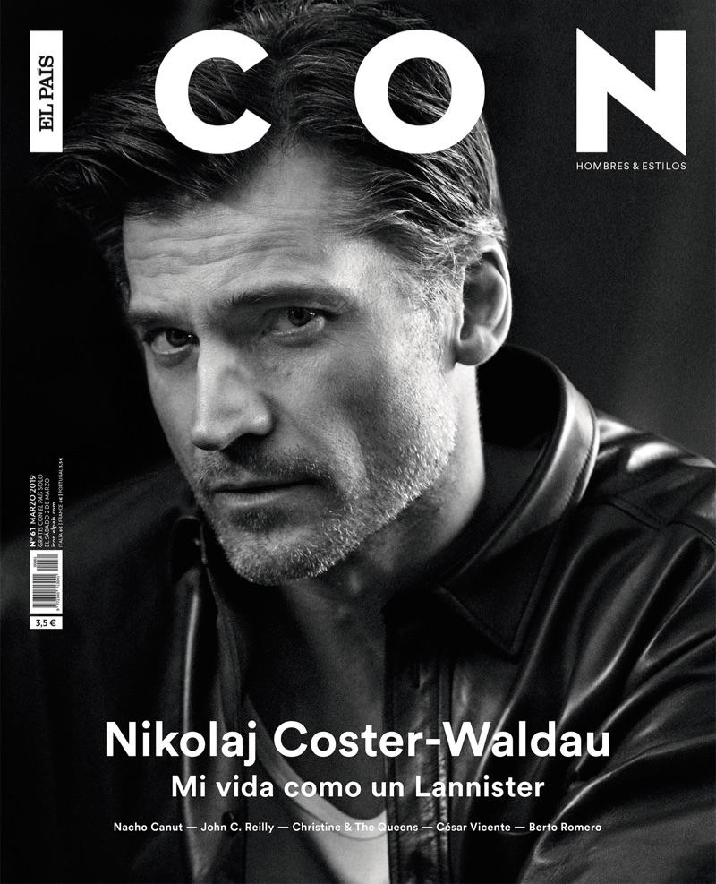 Nikolaj Coster-Waldau covers the March 2019 issue of Icon El País.
