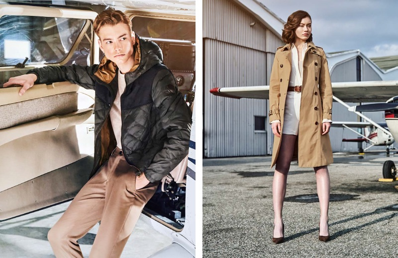 Models Magnus Hambleton and Una Filipovic appear in Nobis' spring-summer 2019 campaign.