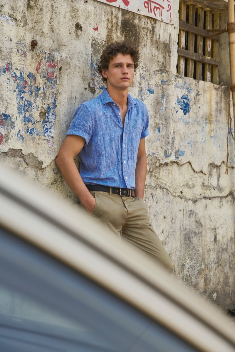Model Simon Nessman fronts North Sails' spring-summer 2019 campaign.