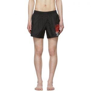 Off-White Black Monnalisa Swim Shorts