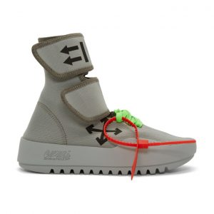 Off-White Grey Moto Wrap High-Top Sneakers