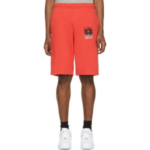 Off-White Red Monalisa Sweat Shorts