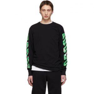Off-White SSENSE Exclusive Black Diag Arrows Long Sleeve T-Shirt