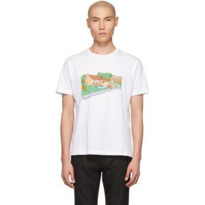 Off-White White Architecture Skinny T-Shirt
