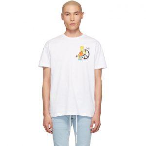 Off-White White Bart Peace Slim T-Shirt