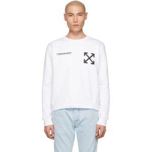 Off-White White Flamed Bart Sweatshirt