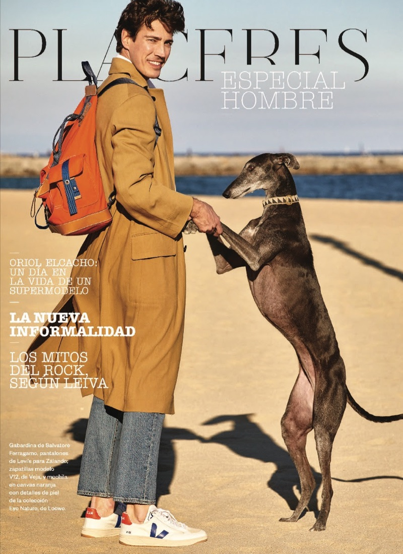 Oriol Elcacho Charms in Beach Cover Story for El País Semanal