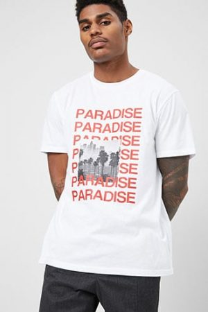 Paradise Graphic Tee at Forever 21 White/red