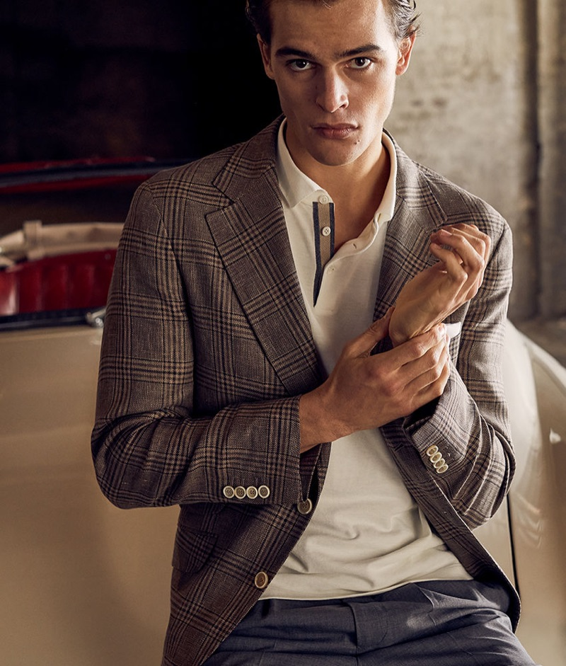 Brunello Cucinelli enlists Parker van Noord to star in a sartorial story for the season.