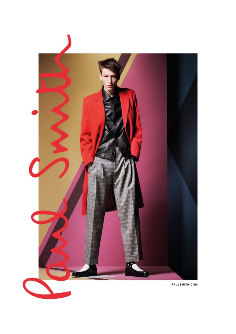 Front and center, Nick Fortna stars in Paul Smith's spring-summer 2019 campaign.