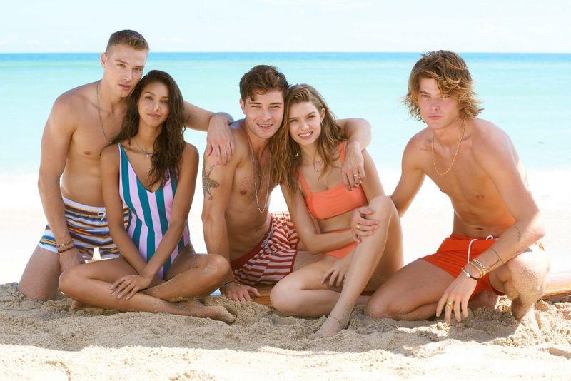 Models Matthew Noszka, Lais Ribeiro, Francisco Lachowski, Josephine Skriver, and Jordan Barrett hit the beach for Penshoppe's spring-summer 2019 campaign.