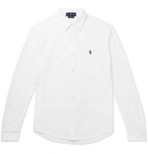 Polo Ralph Lauren - Button-Down Collar Cotton-Piqué Shirt - Men - White
