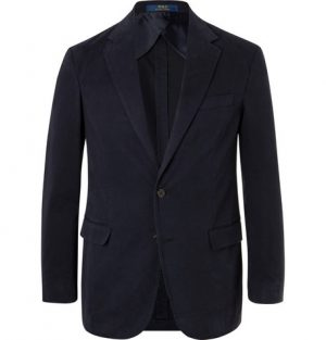 Polo Ralph Lauren - Navy Slim-Fit Unstructured Cotton-Blend Twill Blazer - Men - Navy