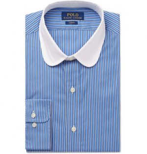 Polo Ralph Lauren - Slim-Fit Penny-Collar Striped Cotton Shirt - Men - Blue