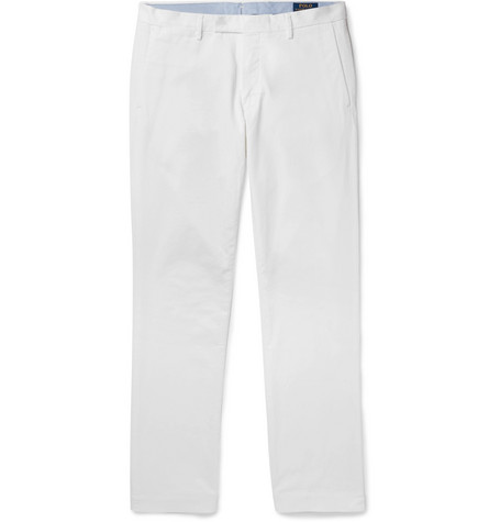 Polo Ralph Lauren - Slim-Fit Stretch-Cotton Twill Chinos - Men - White