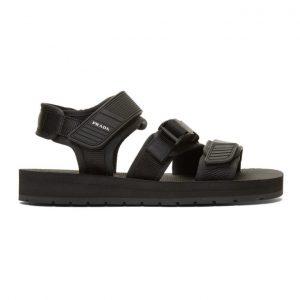 Prada Black Tech Sandals