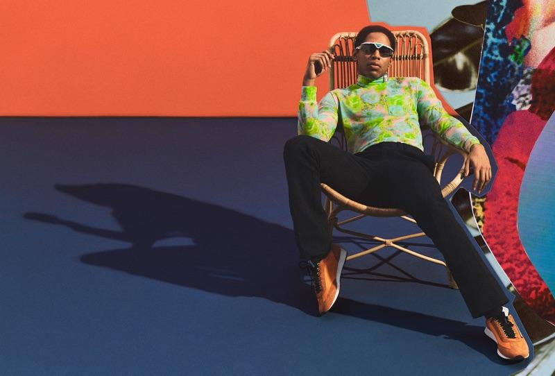 A cool vision, Kelvin Harrison Jr. rocks Prada.