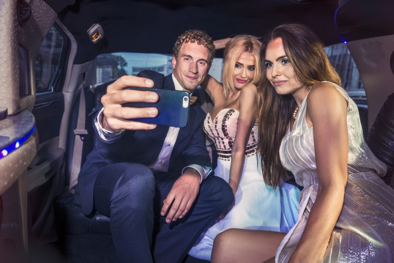Prom Style Limo Selfie