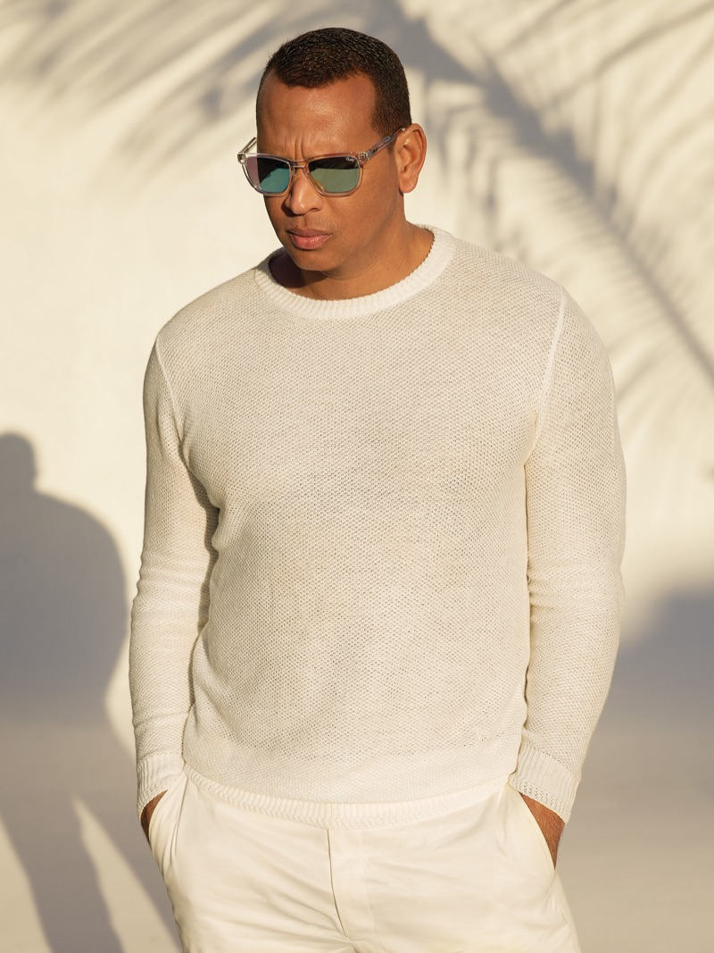 A summer vision, Alex Rodriguez appears in Quay Australia's eyewear campaign.