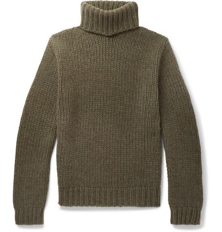 9f293c6c Ralph Lauren Purple Label - Cashmere Rollneck Sweater - Men - Army green