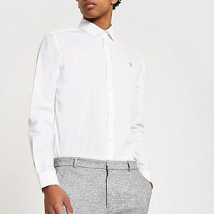 River Island Mens Farah white button down shirt