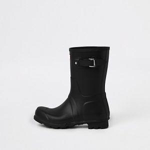 River Island Mens Hunter Original black short rubber boots