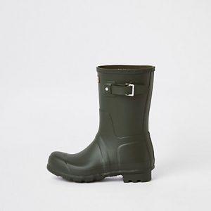 River Island Mens Hunter Original green short rubber boots