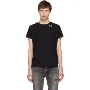 Saint Laurent Black Natural Heart T-Shirt