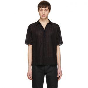 Saint Laurent Black Open Seam Shirt
