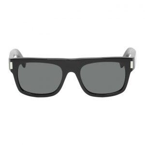 Saint Laurent Black Rectangular Sunglasses