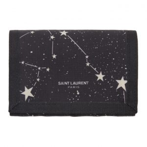 Saint Laurent Black Tiny Orion Constellation Card Holder
