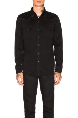Saint Laurent Classic Western Shirt in Black. - size M (also in S)