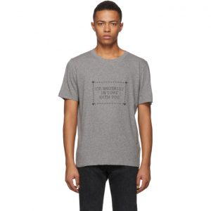 Saint Laurent Grey Im Brutally In Love With You T-Shirt
