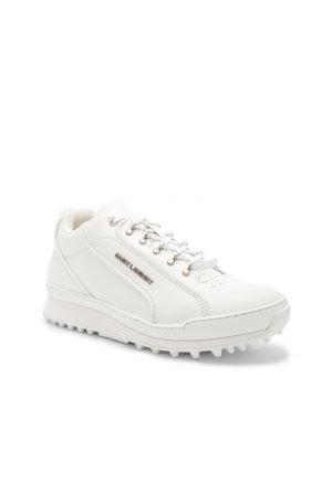 Saint Laurent Lace-Up Trainers in White. - size 40 (also in 41,43)