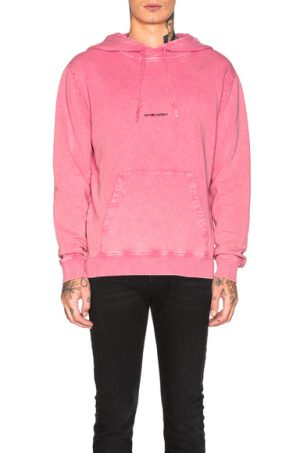 Saint Laurent Logo Hoodie in Pink. - size M (also in L,S,XL)
