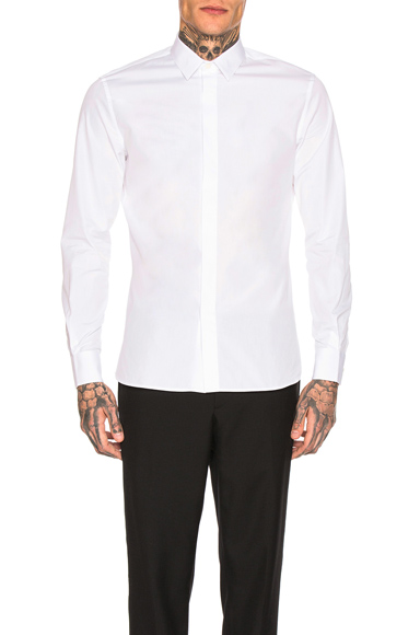 Saint Laurent Long Sleeve Shirt in White. - size 38 (also in 39,40,42)